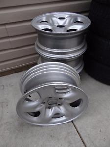 """16"""" Silver Steel Rims"""