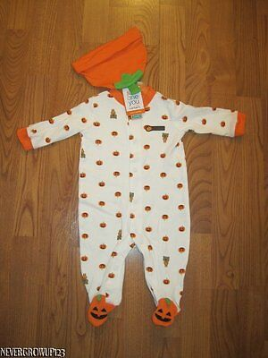 CARTER'S MY 1ST HALLOWEEN PUMPKIN~JACK O LANTERN OUTFIT~BABY COSTUME~3M~6M~NWT