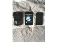 iPod touch, blackberry curve 8520 & t-mobile phone