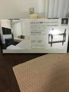 """Up to 46"""" Flat Screen Tiltable Wall Mount"""