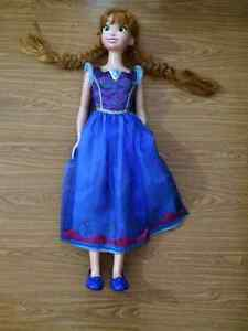 Lifelike 3 foot Anna Doll from Frozen for sale