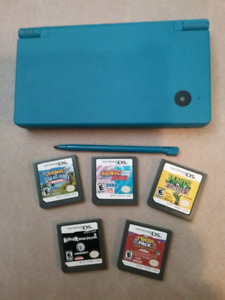 NINTENDO DS AND 5 GAMES