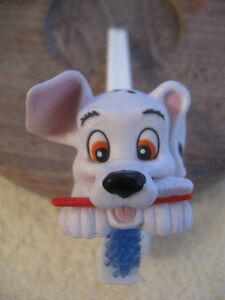DECORATIVE LITTLE DOG TOOTH-BRUSH and SUCTIONED WALL HOLDER