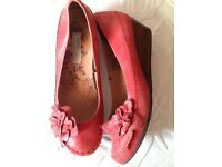 Next red leather shoes size 6 pristine