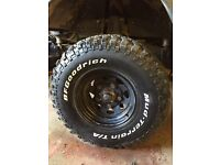Bf Goodrich mud terrain 32x11.50x15 tyres x5 ( Land Rover off road 4x4 tyres) road legal