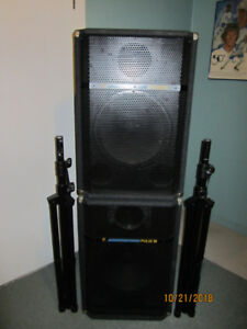 Yorkville - Pulse 15 speakers - tripod stands included