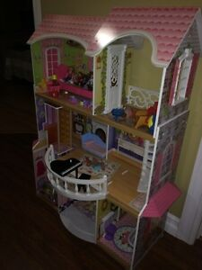 Doll house and loving family accessories.