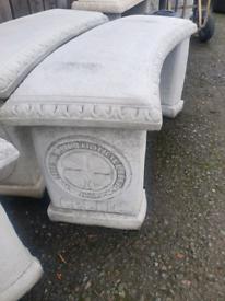 Concrete Celtic Garden Bench Seat