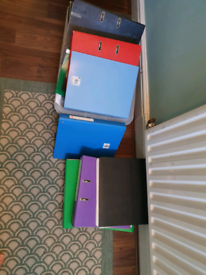 Lever arch files, small folders and plastic wallets