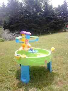 water feature with hours of fun for years