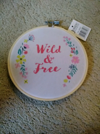 Brand new Wild & Free hoop wall decoration girls Xmas gift