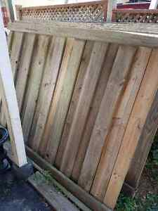 Pressure treated fence sections 5x7