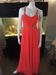 Long formal dress worn once size 3 but fits like a size 6