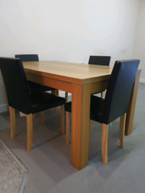 QUICK SALE! Dining set table plus 4 nearly new chairs CHINGFORD E4
