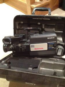 sony beta max camera and accessories