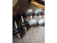 2 Dumbell sets.17.5 + 10 kg sets.