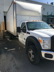 Ford F550 - Straight Box Truck - Cube Truck - Dock Level -Diesel