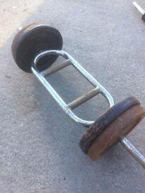 Cast iron weights set ( 45kg )