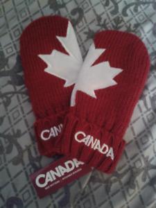 Women's HBC Canada Red Mittens