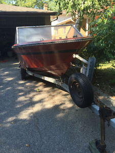 16' Slickcraft with 115HP Mercury and Trailer