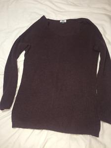 Purple long sweater top