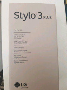 Lg stylo 3+  unlocked BNIB sealed 350