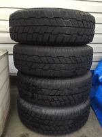 Set of 4 215/70/15 WINTER tires on 5x115 rims