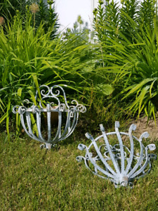 Wrought iron wall baskets/planters