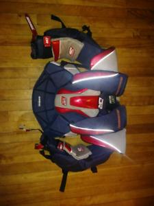 Junior medium goalie chest protector