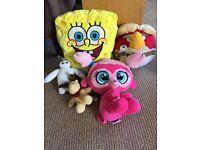 Soft toys - spongebob/angry birds