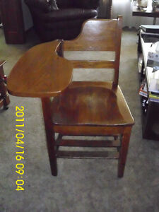 CHAIR WITH SIDE TABLE $20.00