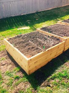 Raised Cedar Garden Bed Boxes
