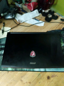 Msi gaming laptop and mouse.