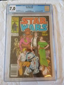 Star Wars #107 Last issue newsstand CGC.