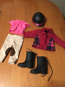 "18"" doll our generation girl horse riding outfit"