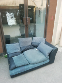 Sofa grey £25. Real Bargains Clearance Outlet Leicester