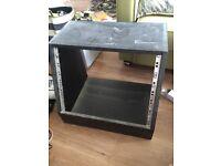 8u angled studio rack cabinet
