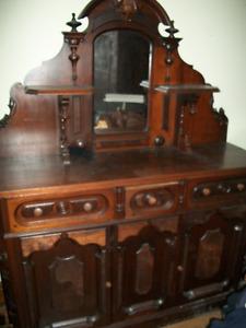Antique Walnut Sideboard For Sale