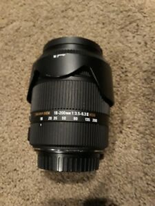 Sigma 18-200mm F3.5-6.3 II DC OS HSM Lens for Canon SLR Camera