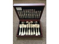 . NEW Arthur Price 84 Piece Silver Plated Pompadour Stlyle Cutlery Set/ RRP £950!!! 07