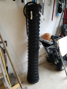 Brand new 37 ft x 5ft black chain link fence + 87ft tension wire