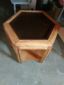 Beautifully refinished accent table for sale.