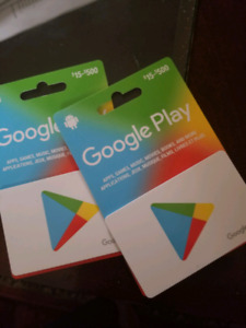 $500 GOOGLE PLAY GIFT CARD FOR $400