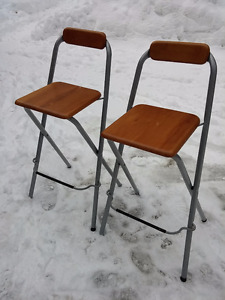 Chairs Bar Stool Pewter/Wood