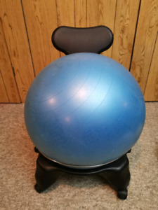 Fit-Chair Fitness Ball Chair with Back Rest