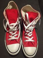 Converse red men size 9 women size 11