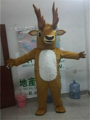 Halloween Deer Mascot Costume Cosplay Party Game Dress Outfit Advertising Adults