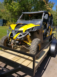 2014 Canam Maverick Max and Trailer
