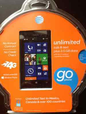 Nokia Lumia 520 - 8GB - Black (AT&T GoPhone) No Annual Contract, No Credit Check