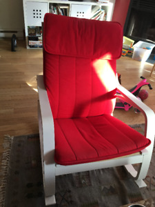 Fauteuil IKEA rouge